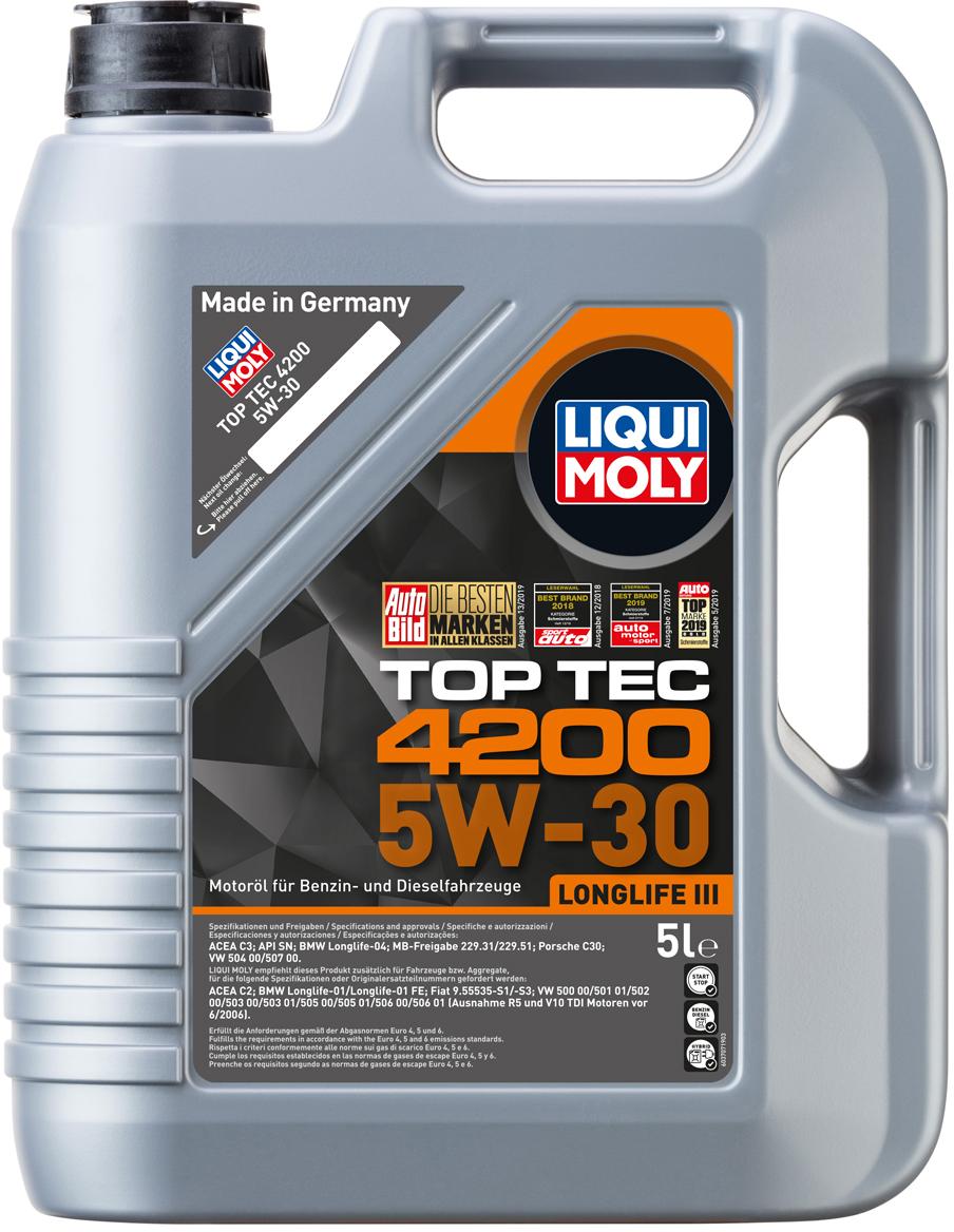 APB Автозапчастини | Моторне масло Liqui Moly Top Tec 4200 5W-30 5 л (7661)
