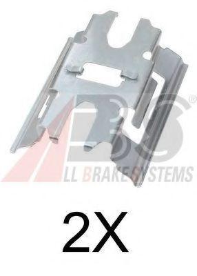 Пружинки супорта перед Sprinter 616CDI W905 (Brembo) 03>  ABS 1663Q