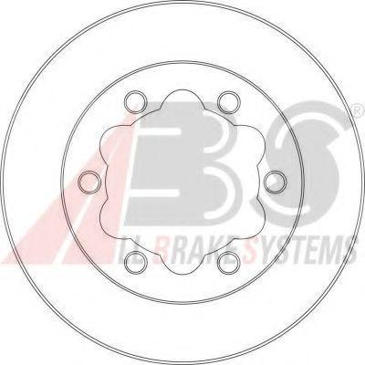 16950 A.B.S. Тормозной диск зад. Sprinter/LT 95-06 (спарка) ABS 16950