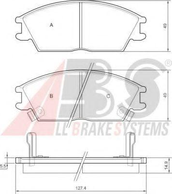 Тормозные колодки зад. /SONATA/ACCORD/ACCENT/GETZ  (AKEBONO) ABS 36172