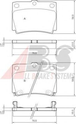 Тормозные колодки Pajero/Pajero Sport 90-15 1.8-3.0 ABS 37284