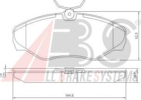 Гальмiвнi колодки дисковi ABS 37287