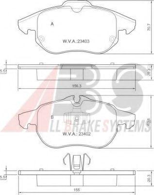 Колодка гальм. FIAT / OPEL / SAAB Croma / Vectra C/Signum/9-3 передн.  ABS 37300