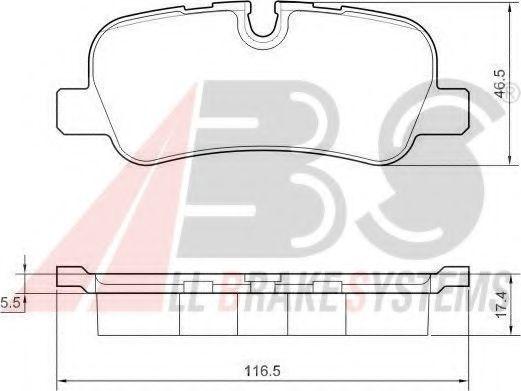Тормозные колодки discovery/range rover III/sport 2.7 - 5.002- ABS 37500