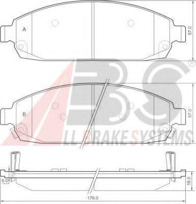 Тормозные колодки Grand Cherokee/Commander 05-10 3.0-5.7 ABS 37517