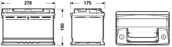 Акумулятор EXIDE EC700