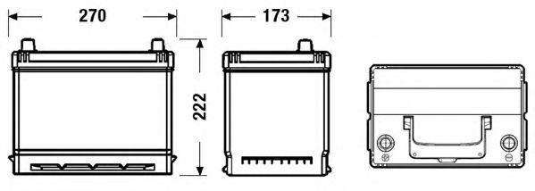 Акумулятор EXIDE EB705