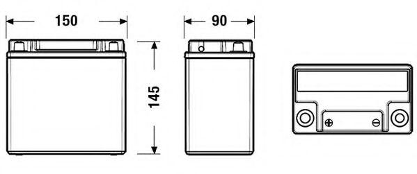 Акумулятор EXIDE EK151