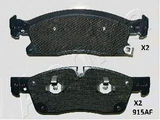 Тормозные колодки передние Grand Cherokee IV 3.0D/3.6/5.7/6.4 11.10-, ML ASHIKA 5009915