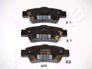 Тормозные колодки задние Honda CR-V III 2.2 CTDi 07- ASHIKA 5104400