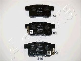 Тормозные колодки ASHIKA 5104410