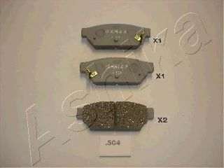 Тормозные колодки задние Mitsubishi Colt 1.6 91-,GTI 91-,Lancer 1.6 92-,2.0D 93- ASHIKA 5105504