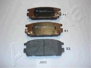 Тормозные колодки задние (15.8 мм) Hyundai Teracan ASHIKA 510HH03