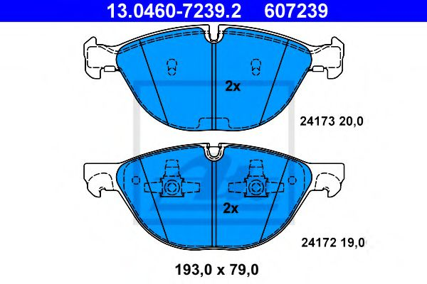 Дисковые тормозные колодки компл. ATE 13046072392