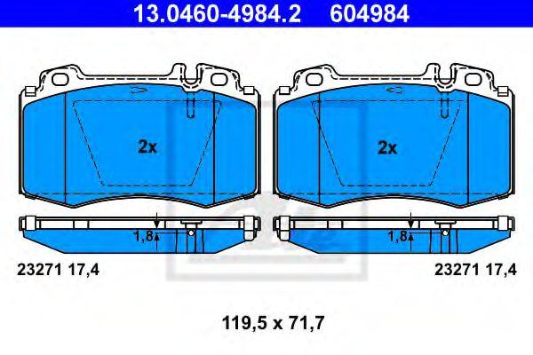 Дисковые тормозные колодки компл. ATE 13046049842