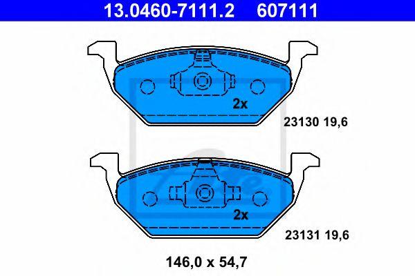 Тормозные колодки ATE 13046071112