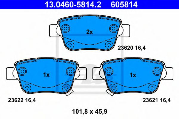 Тормозные колодки ATE 13046058142
