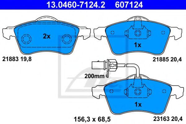 Дисковые тормозные колодки компл. ATE 13046071242