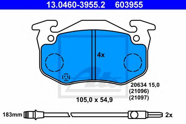 Гальмiвнi колодки дисковi ATE 13046039552