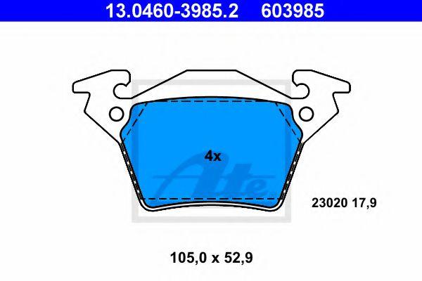 Дисковые тормозные колодки компл. ATE 13046039852