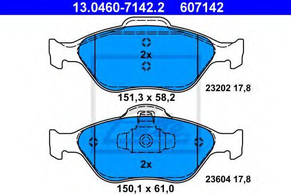 Тормозные колодки ATE 13046071422