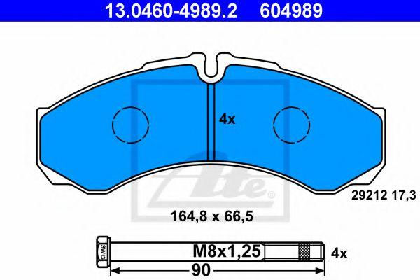 Тормозные колодки ATE 13046049892