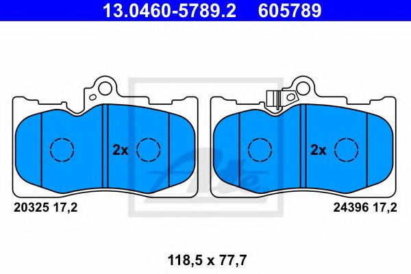 Тормозные колодки ATE 13046057892