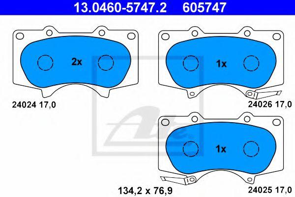 Тормозные колодки ATE 13046057472