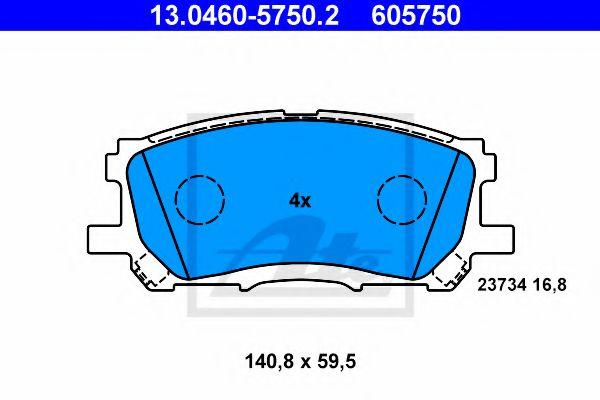 Дисковые тормозные колодки компл. ATE 13046057502