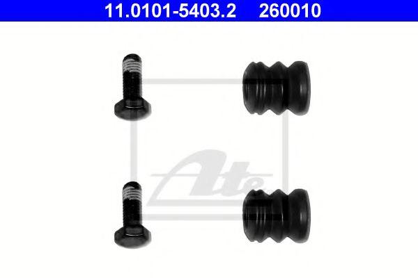 Комплект направляючих і втулок супорта ATE 11010154032