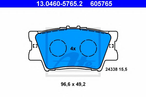 Тормозные колодки ATE 13046057652