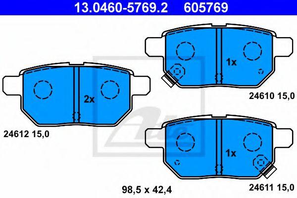 Тормозные колодки ATE 13046057692
