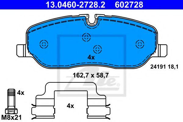 Тормозные колодки ATE 13046027282