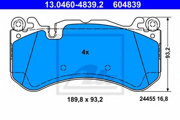 Тормозные колодки ATE 13046048392