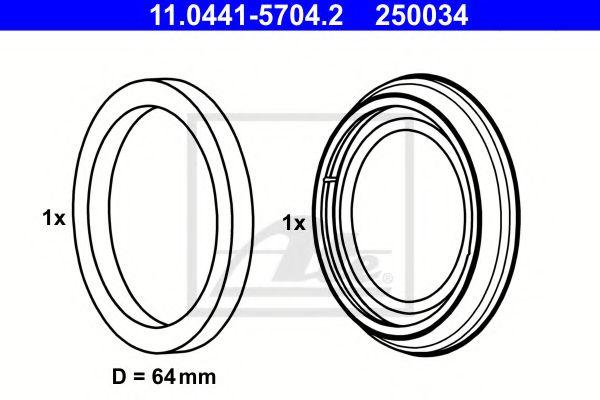 Ремкомплект супорта ATE 11044157042