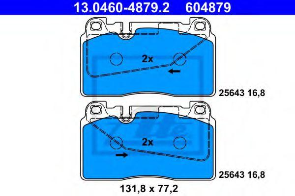 Дисковые тормозные колодки, комплект ATE 13046048792