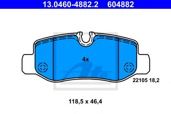 Тормозные колодки ATE 13046048822