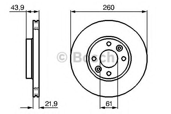 0986479943 Тормозной диск Bosch BOSCH 0986479103