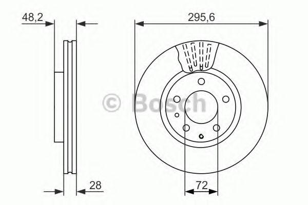 Гальмівний диск MAZDA CX7 АКПП ''F BOSCH 0986479758