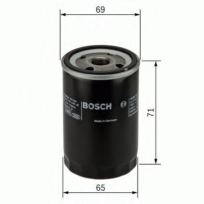 BOSCH P7001/1 масляный фильтр  INFINITI FX35,G35,G37,M35 NISSAN Qashqai BOSCH F026407001