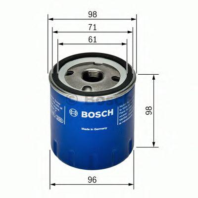 BOSCH P7106 Фильтр масляный Фильтр масляный RENAULT 2,2D BOSCH F026407106