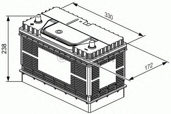 Аккумулятор Bosch L4 105Ah, EN800 левый