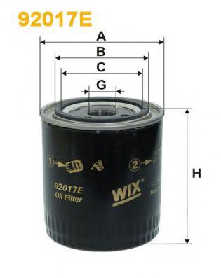 'WIX FILTERS Фільтр гідравлічний КПП WIXFILTERS 92017E