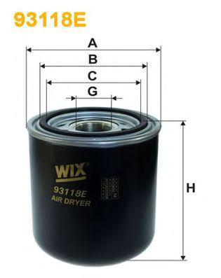 'WIX FILTERS Фільтр вологоосушувача WIXFILTERS 93118E