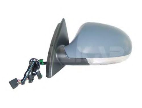 Зеркало лев., электрорегулировка с поворотником, с подогревом, foldable, асферическое, грунт. ALKAR 6141118