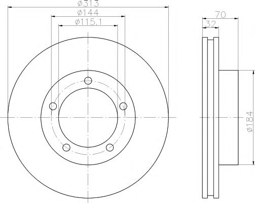 92108100 Тормозной диск TEXTAR PRO TEXTAR 92108103