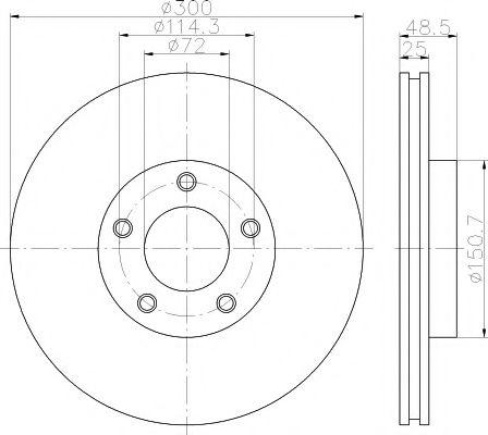 92130400 Тормозной диск TEXTAR PRO TEXTAR 92130403