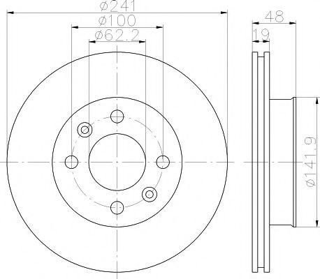 92134100 Тормозной диск TEXTAR PRO TEXTAR 92134103