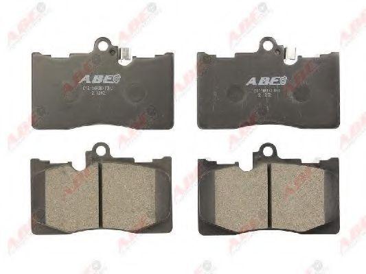 Тормозные колодки передние Lexus GS300 3.0 24V 05-, GS430 4.3 32V 05- ABE C12116ABE