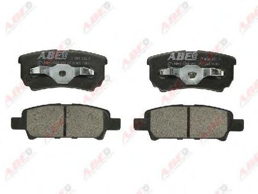 Тормозные колодки задние (15.5mm)  Mitsubishi Outlander 2.0 16V 03.02- ABE C25012ABE